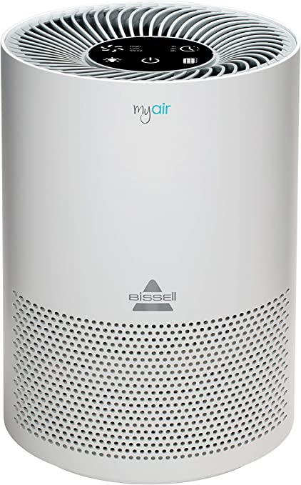 BISSELL MYair Purifier with High Efficiency and Carbon Filter for Small Room and Home, Quiet Bedroom Air Cleaner for Allergies