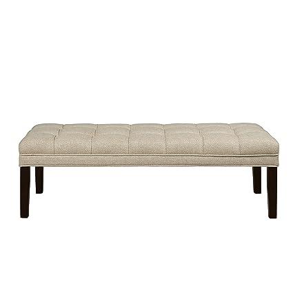 Amazon.com: Home Meridian Tufted cama banco tapizado, color ...