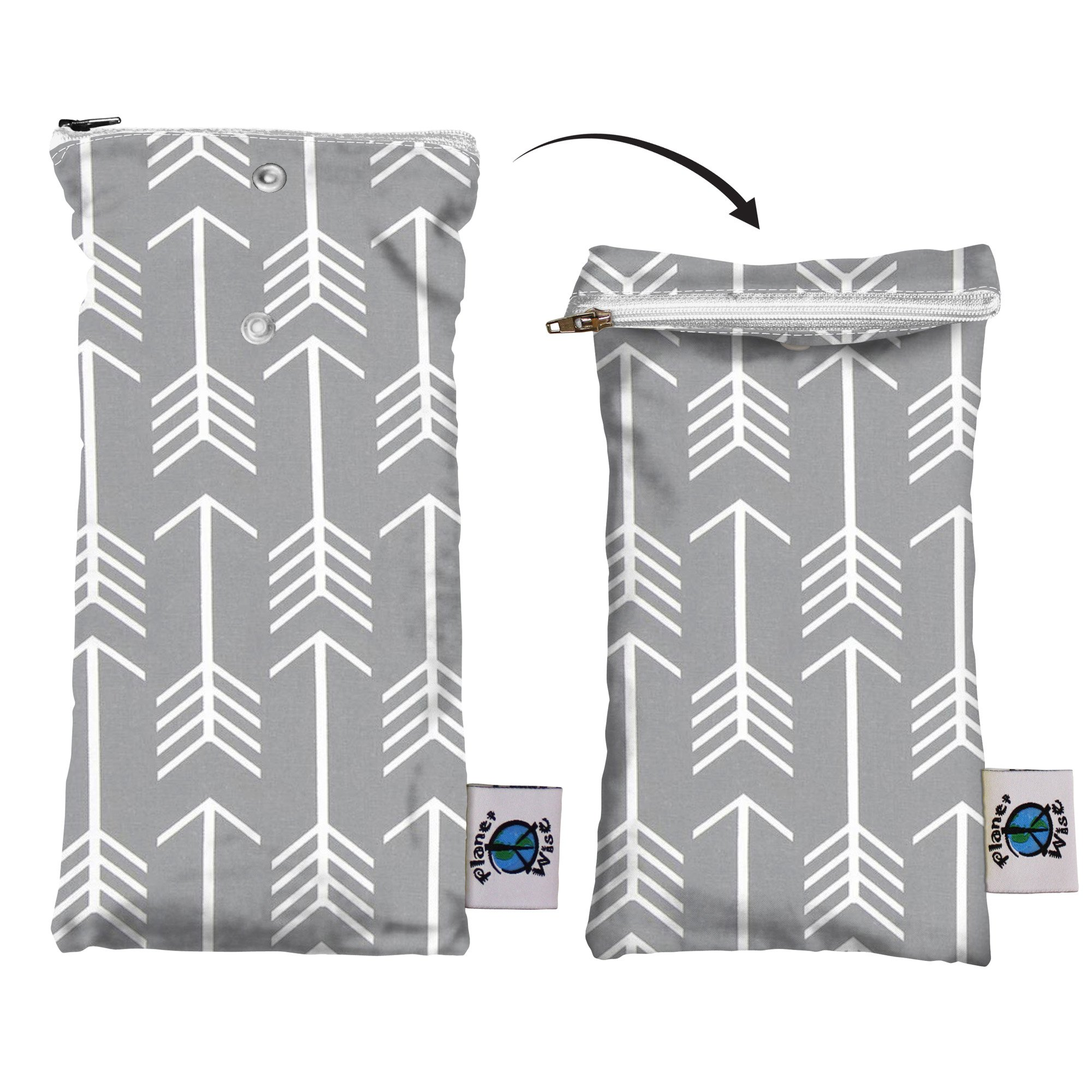 Planet Wise Wipe Pouch, Aim Twill, Made in the USA by Planet Wise