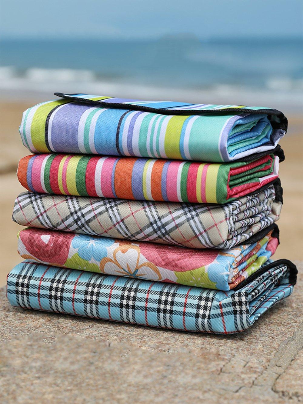 Jiu Bu Bu Bu Grasmatte Im Freien Picknick-Tuch Tragbar Ultraleicht Zusammenklappbar Oxford-Tuch Strandmatte,F B07F76HNY9 | Kaufen  51bfbf