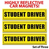 wall26 Reflective Student Driver Magnetic Car