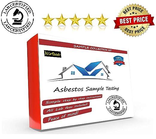 Kit de prueba de asbesto 1 PK (48 horas de tiempo de respuesta de asbesto Kit 1 PK (48 horas de tiempo de entrega) Prueba de amianto certificado de ...