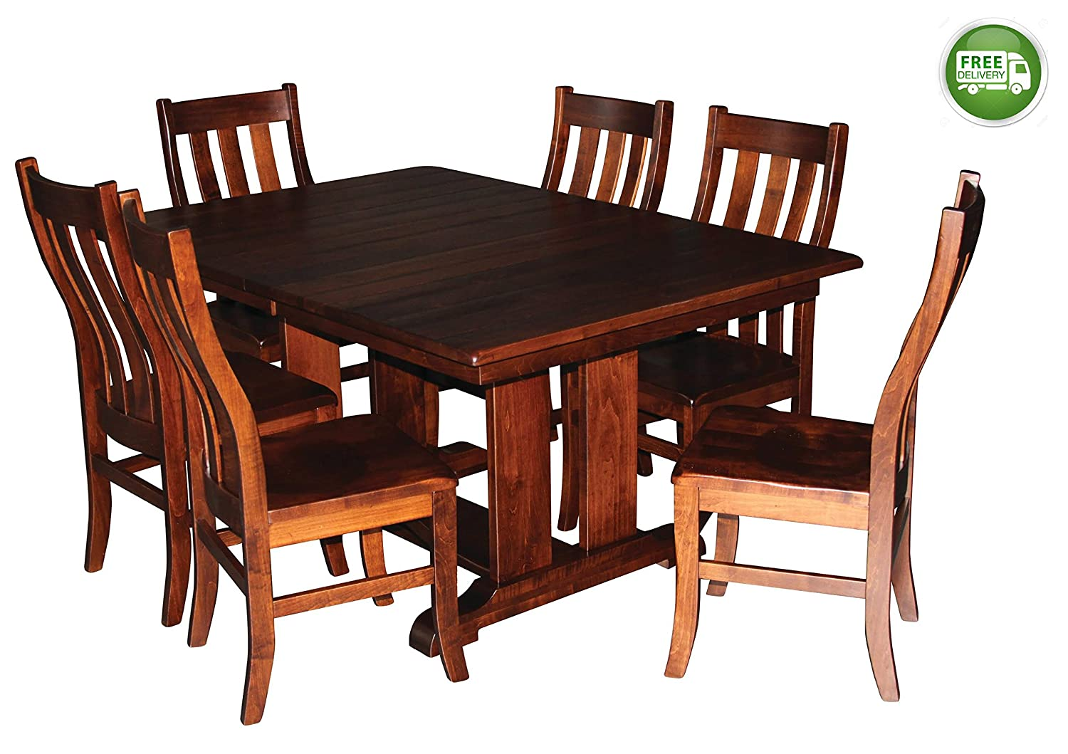 amazoncom aspen tree interiors solid wood heirloom 9 piece dining room kitchen table set get ready for the holidays and generations to come made in