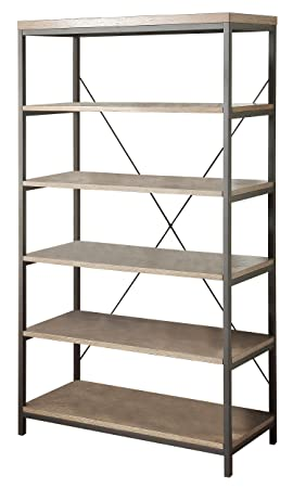 Homelegance Daria 5-Tier Bookcase, 40 W, Brown