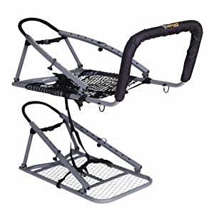 OL'MAN TREESTANDS Multi-Vision Climbing Stand, Steel Construction with 21″ Wide Net Seat, Gray, One Size (COM-04)