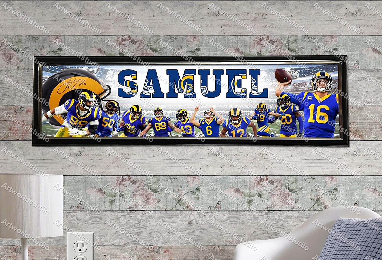Los Angeles Rams 2020 Roster Personalized Poster Customized Banner Frame Options