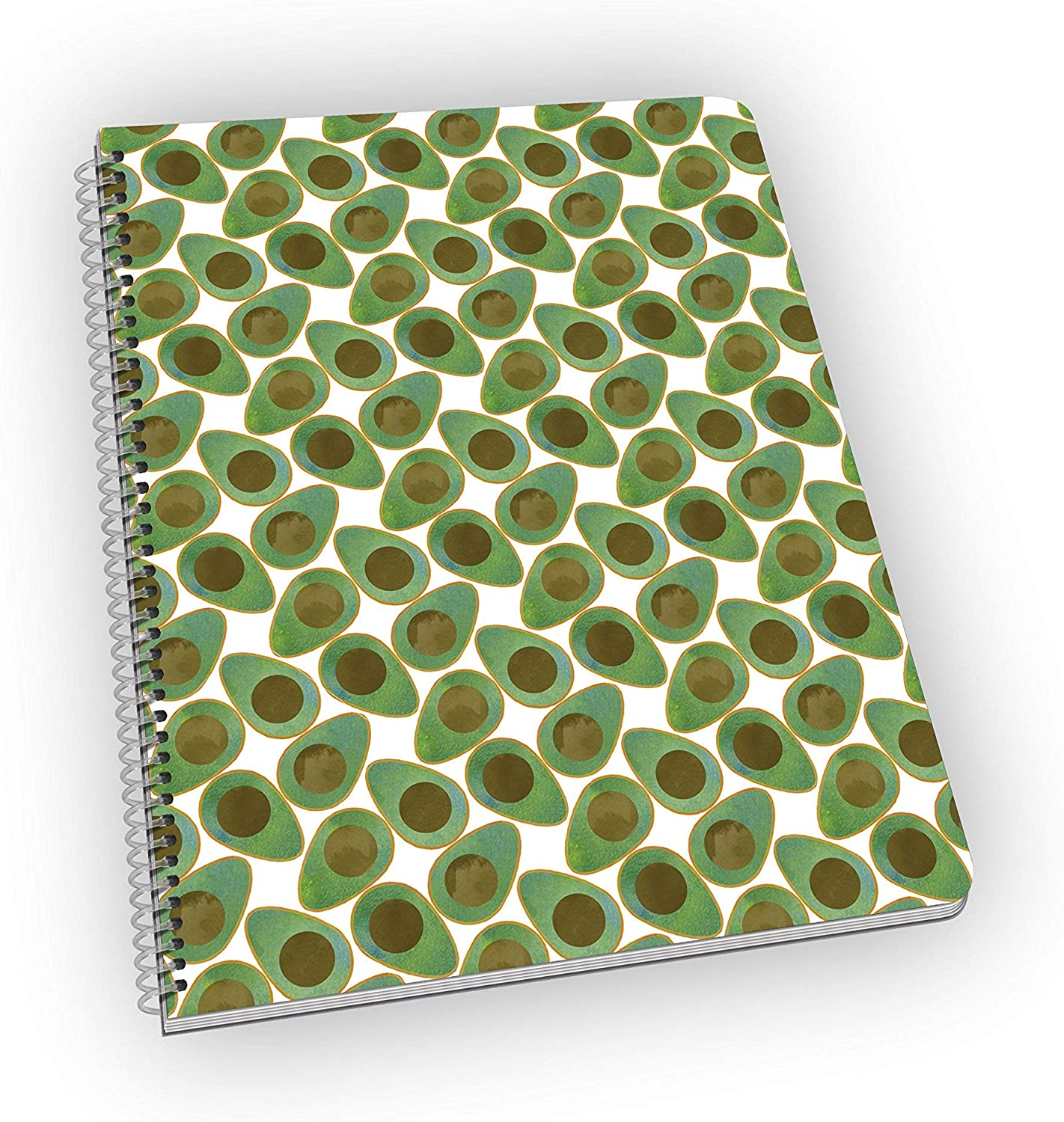 Avocados notebook, lined pages, spiral bound. Great gift!