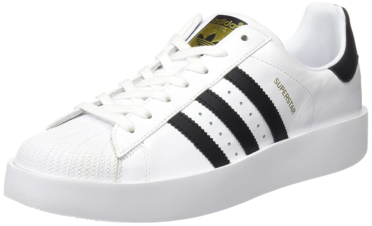 adidas Superstar Bold W Womens Trainers White Black - 9 UK