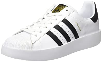 Adidas Superstar Bold, Baskets Femme, Blanc (Footwear White/Core Black/Gold