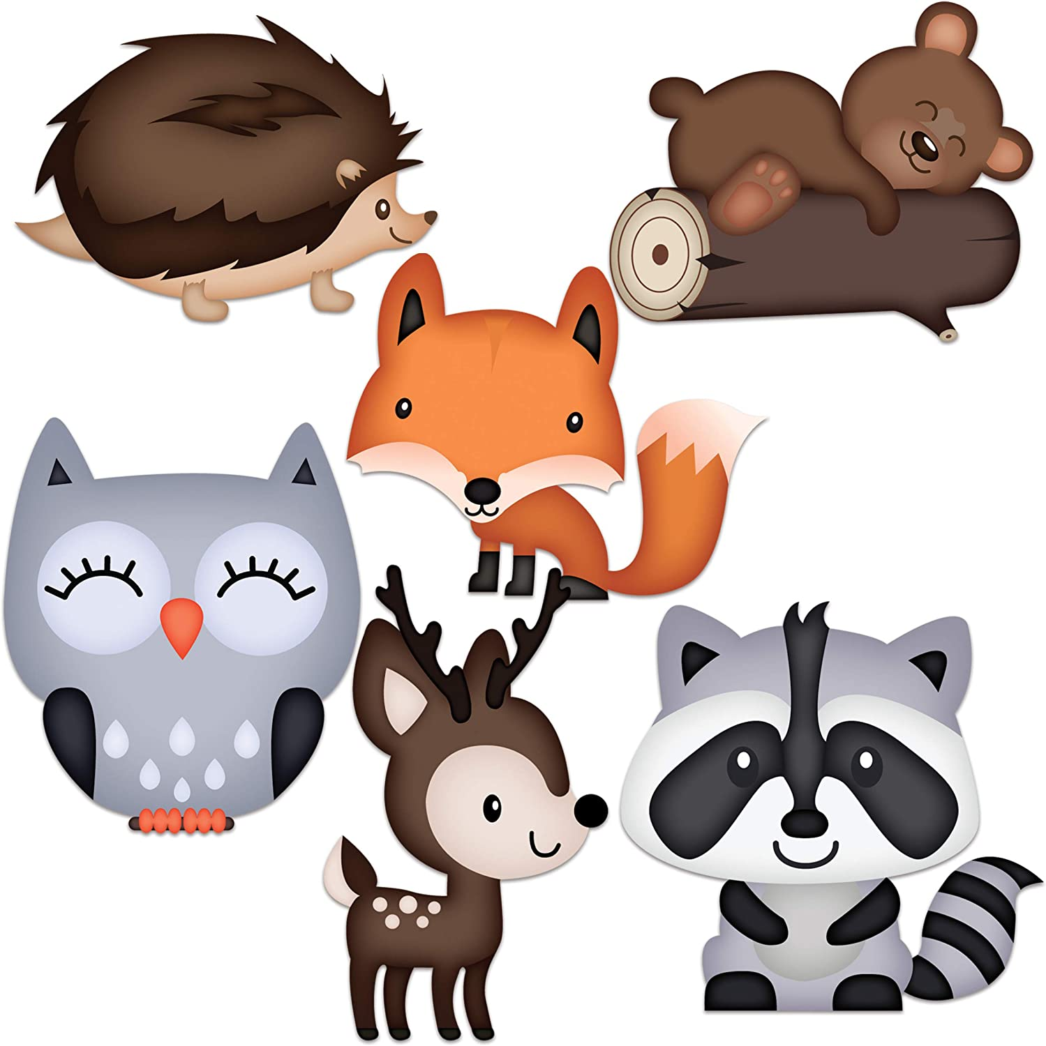 Woodland Baby Shower Decorations - Large Adorable Woodland Animals Cutouts Are Easily Seen - Great for Woodland Creatures Baby Shower Or Fall Themed Baby Shower - Figures includes Fox Deer Owl
