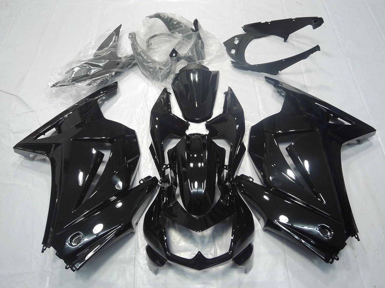 ZXMOTO K0208BLK ABS Motorcycle Bodywork Fairing Kit for Kawasaki Ninja 250 EX 250R ZX250 2008 2009 2010 2011 2012 Gloss Black - (Pieces/kit: 15)