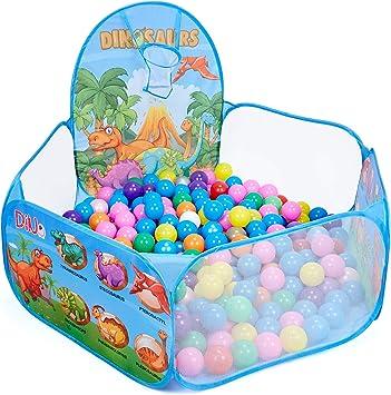 Kids Baby Indoor /& Outdoor Play Toy Ozean-Kugelschreiber Tierkleinkind-B/ällebad mit Basketballkorb