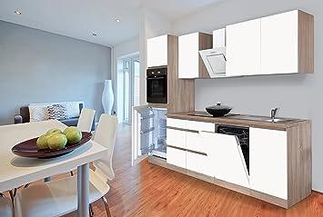 respekta grifflose Küche Leerblock Küchenleerblock 280cm Eiche ...