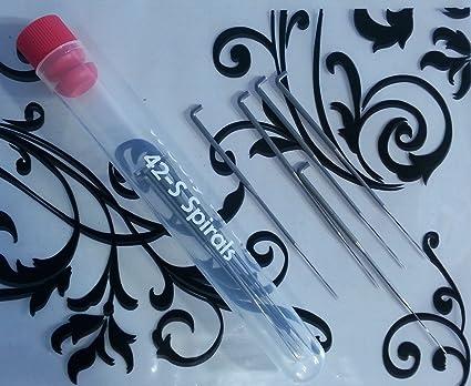 38-Spirals Twists with Reusable Storage Tube Needle Felting Needles 38S Dozen 12