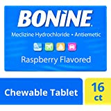 Bonine Motion Sickness Relief Chewable Tablets, Raspberry - 16 ct Blister Pack