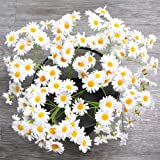 AmyHomie Artificial Flowers, Silk Daisy, Artificial Gerber Daisy for Home Decoration, Artificial Daisy for Wedding Decoration (White)