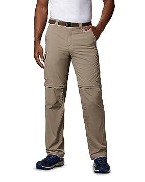 ef7390c8 Columbia Men's 2in1 Hiking Trousers, SILVER RIDGE CONVERTIBLE PANTS, Nylon,  Tusk, Size