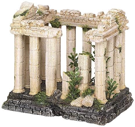 Nobby acrópolis con ornamentos de plantas acuario, 16 x 10,5 x 14,