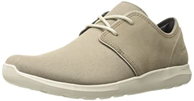 dc82b8cfff9a Crocs Men s Kinsale 2-Eye Shoe M Fashion Sneaker Khaki Stucco 7 ...