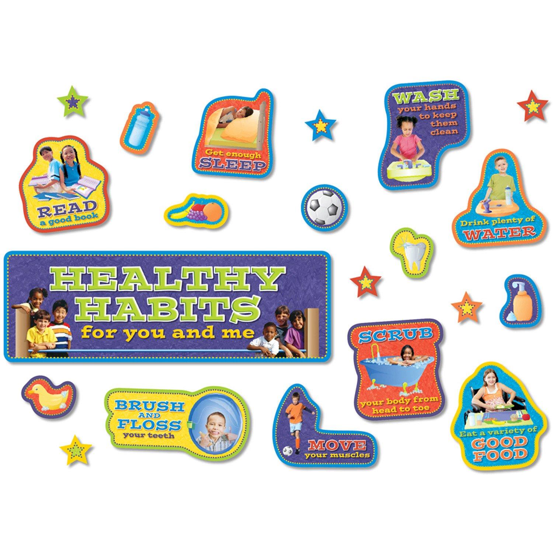 North Star Teacher Resource NST3036 Healthy Habits Bulletin Board Set, 38 Pieces