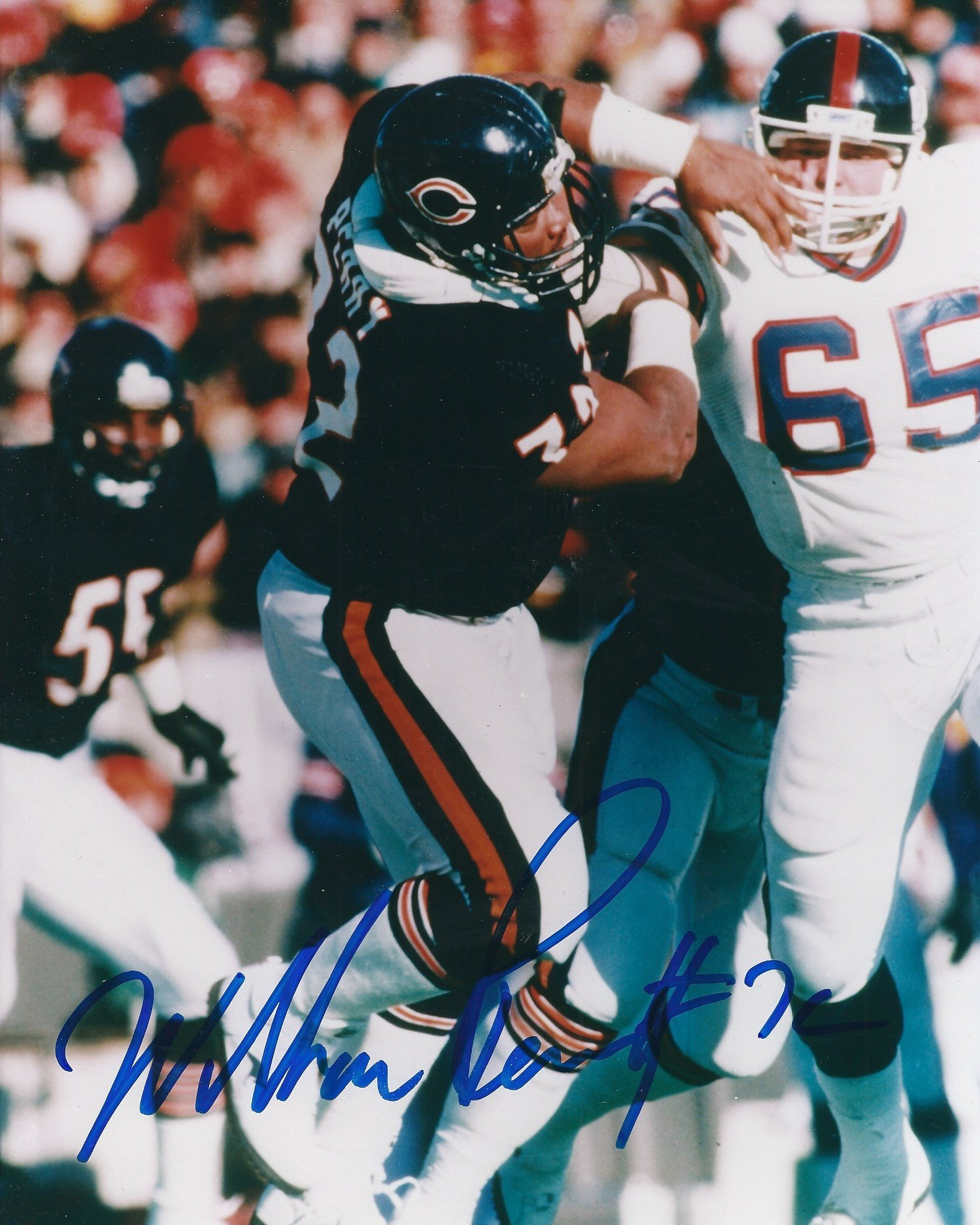 Autographed William Perry 8x10 Chicago Bears Photo with COA