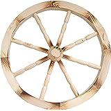 Rueda de Carro de madera ornamentales madera carro Wagon ruedas 49 cm casa jardín decoración