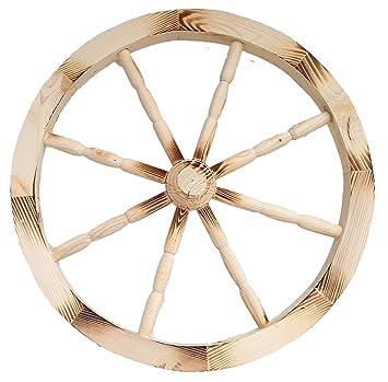 Rueda de Carro de madera ornamentales madera carro Wagon ruedas 49 cm casa jardín decoración: Amazon.es: Jardín