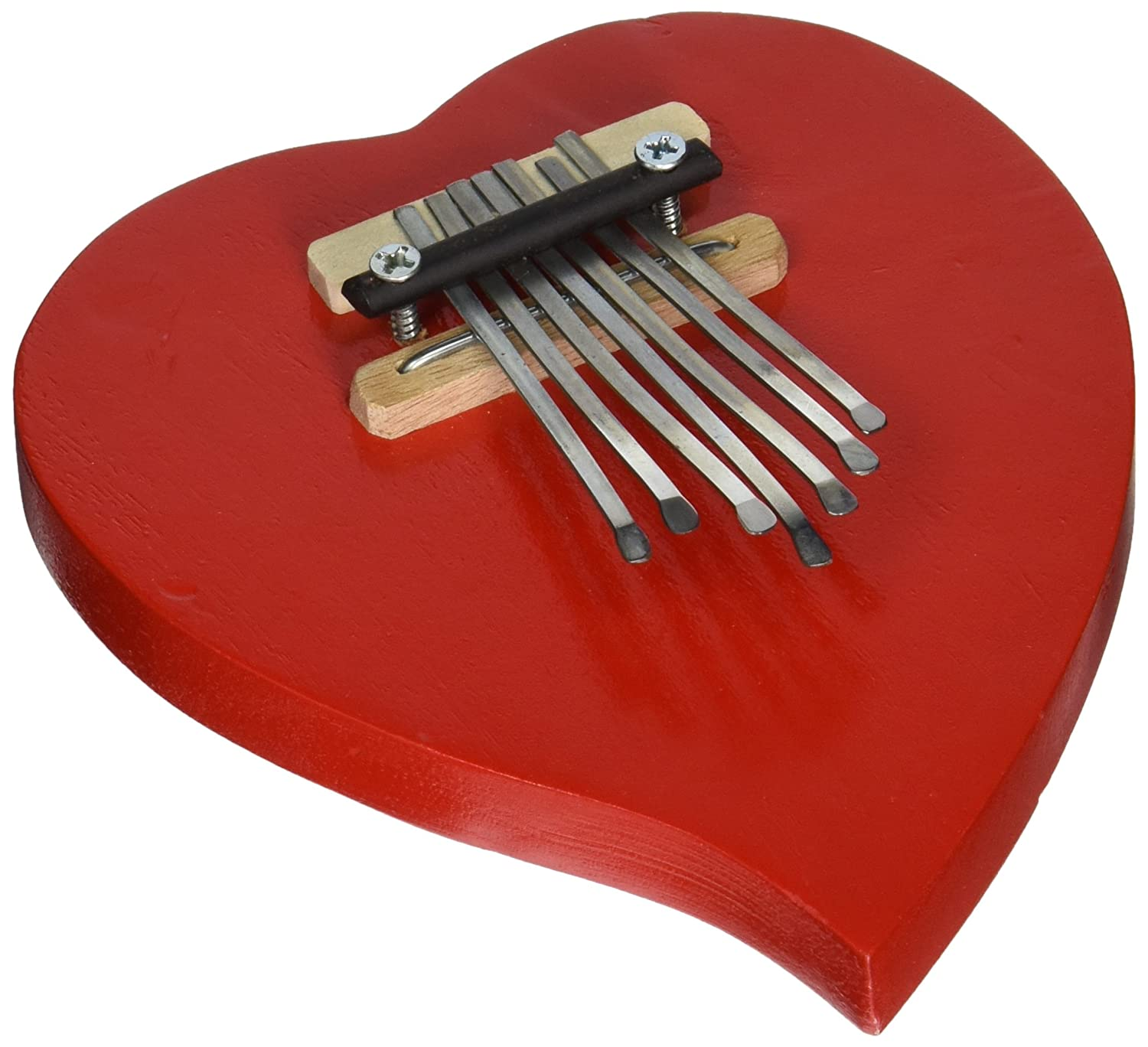 X8 Drums & Percussion Red Heart Kalimba Thumb Piano X8-HRT-KLB