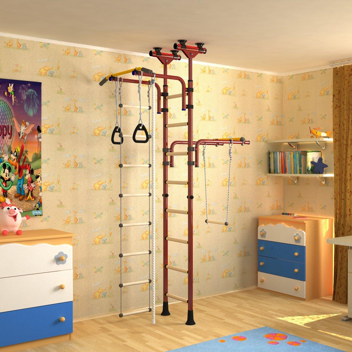 Indoor Klettergerüst für Kinder Sprossenwand Kinderturngerät ...