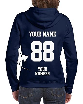 Amazon.com  Design Your OWN Hoodie - Custom Jersey Full-Zip Hoodies for  Women - Ladies  Zip Up Sweatshirts  Clothing b922f247e1