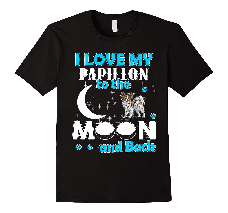 Womens Papillon T Shirt Dog Lovers-Awarplus