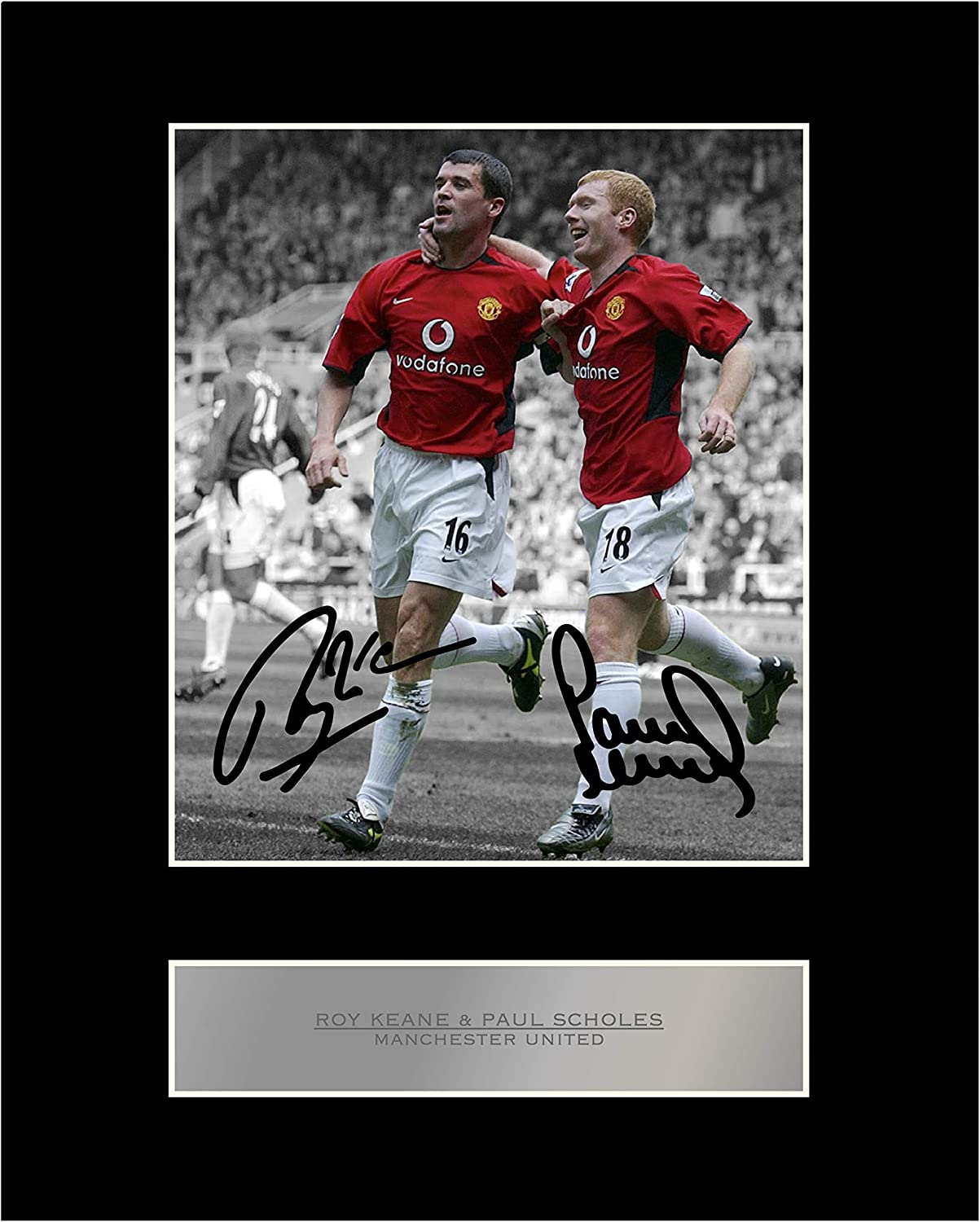 HWC Trading Ole Gunnar Solskjaer Gift Signed FRAMED A4 Printed Autograph Manchester United Gifts Photo Display