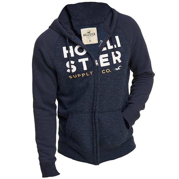 Hollister - Sudadera con capucha - Manga Larga - para hombre azul marino S/50: Amazon.es: Ropa y accesorios