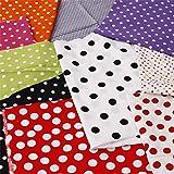 Stoffpaket Baumwolle Punkte gemischte Grösse Farbe mit 1 kg für Kissen Puppen Patchwork