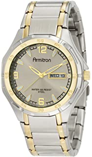 Armitron Mens 37mm Two-Tone Stainless Steel Dress Watch