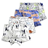 slaixiu Soft Cotton Kids Boxer Briefs Cartoon Boys