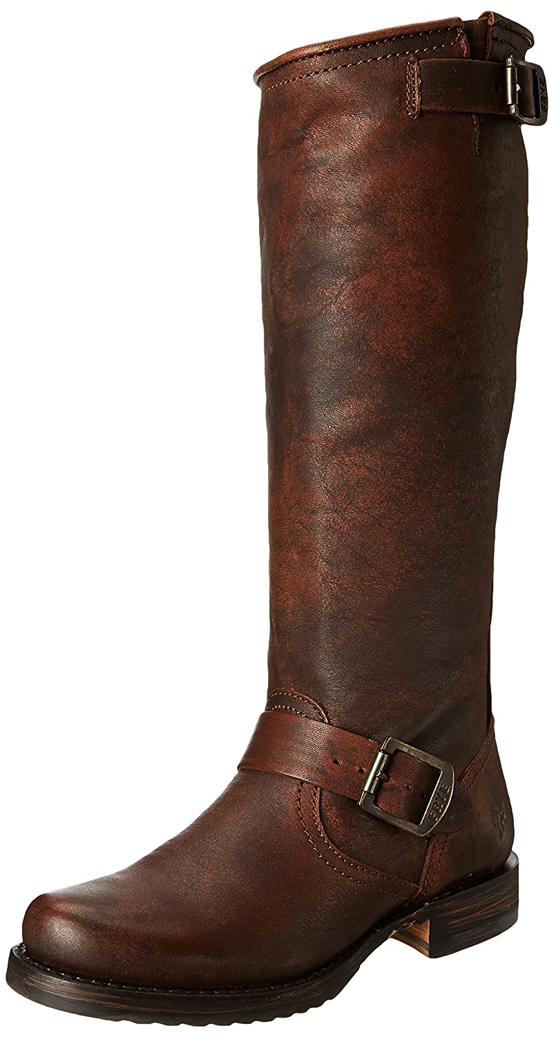 FRYE Women's Veronica Slouch Boot B001A6KT72 6.5  M US|Dark Brown Calf Shine Vintage Leather-77609