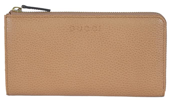 e94cf902a974e9 Gucci Women's Leather Zip Wallet (Whisky Beige) at Amazon Women's ...