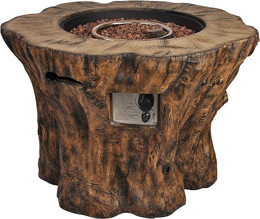 Clifton - Chimenea de gas, chimenea de madera para jardín o terraza: Amazon.es: Jardín