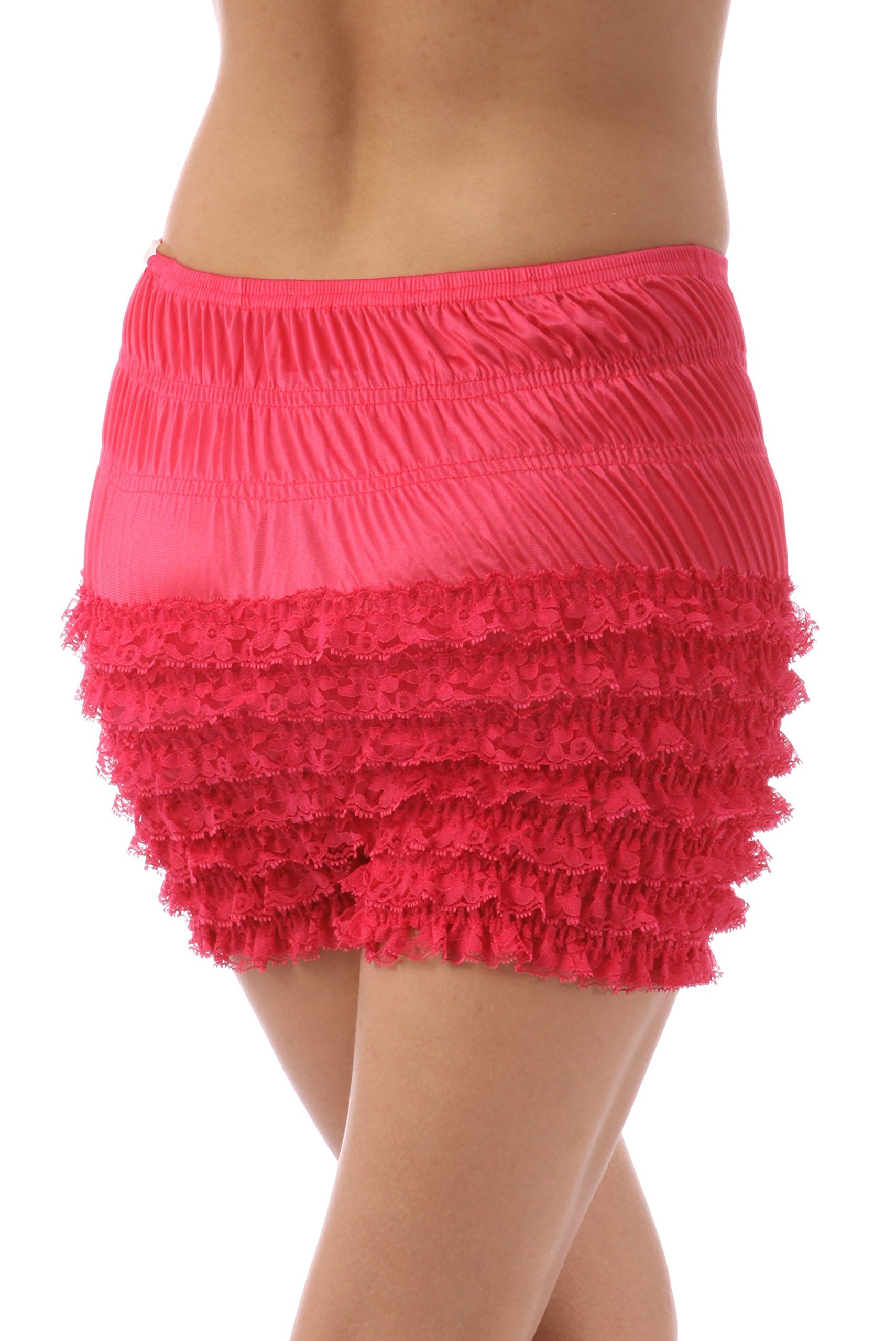Malco Modes Womens Sexy Ruffle Panties Tanga Dance Bloomers Sissy Booty Shorts (Large, Raspberry) by Malco Modes