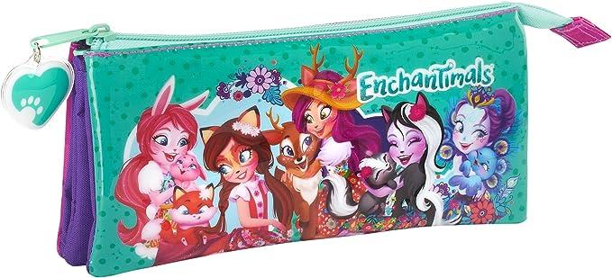 Safta Estuche Escolar Enchantimals Oficial 220x30x100mm: Amazon.es: Ropa y accesorios