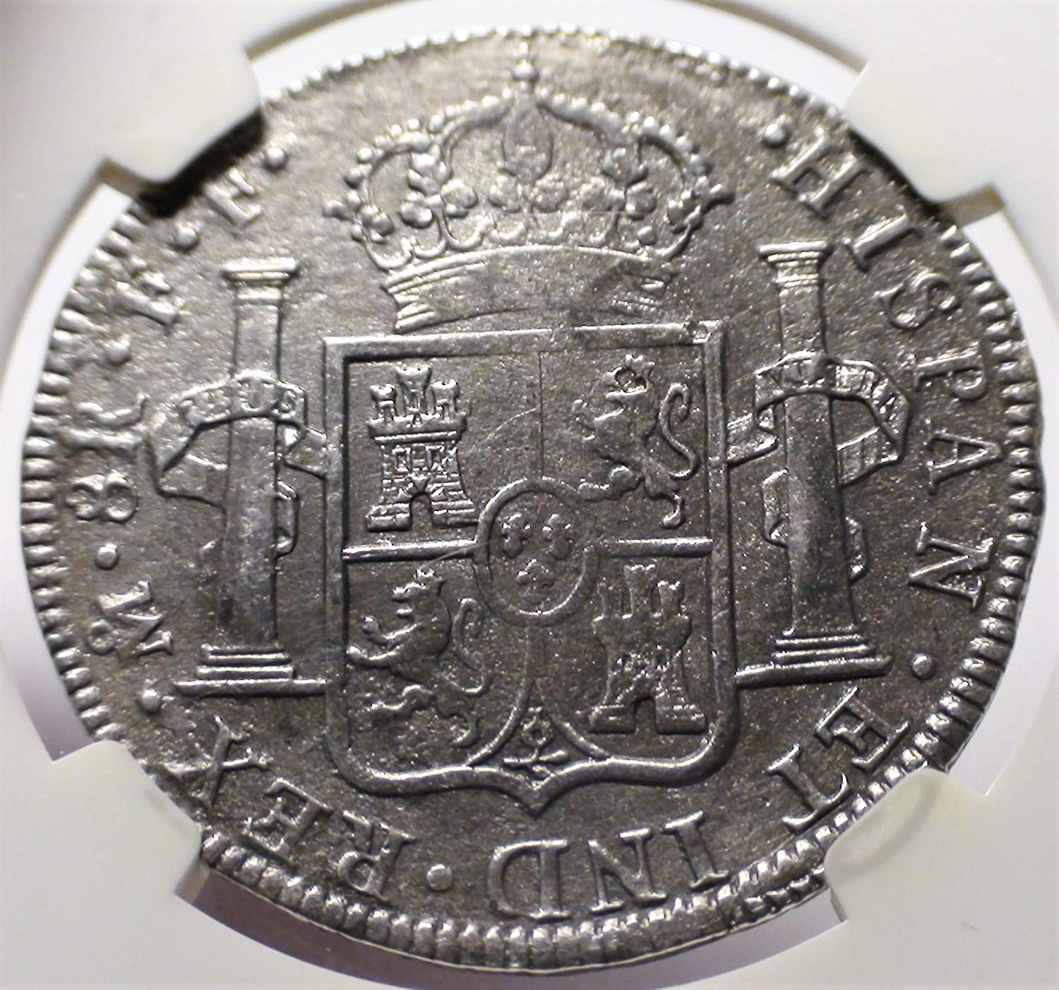 MX 1777 83 Spanish Mexico Shipwreck Antique Silver Coin Authenticated And Certified 8 Reales Genuine NGC At Amazons Collectible Coins Store