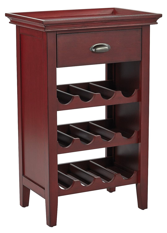 INSPIRED by Bassett BP-PORTWC-AC12-osp Portofino Cabinet Vintage Wine Office Star
