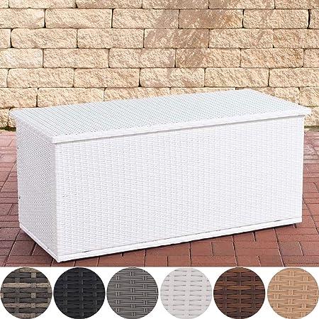 Clp Polyrattan Auflagenbox Comfy L Gartentruhe Für Kissen Und Auflagen L Größen Erhältlich 150 Weiß