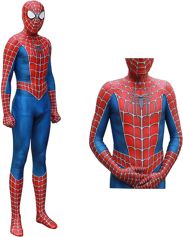 HEIPIDAY Premium Halloween Cosplay Costume, Spider Homecoming Zentai Bodysuit Adult/Kids