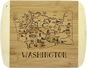 Totally Bamboo A Slice of Life Washington Bamboo Serving and Cutting Board
