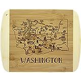 Washington State Souvenir Dish Towel Red and White Kitchen COMINHKPR62269