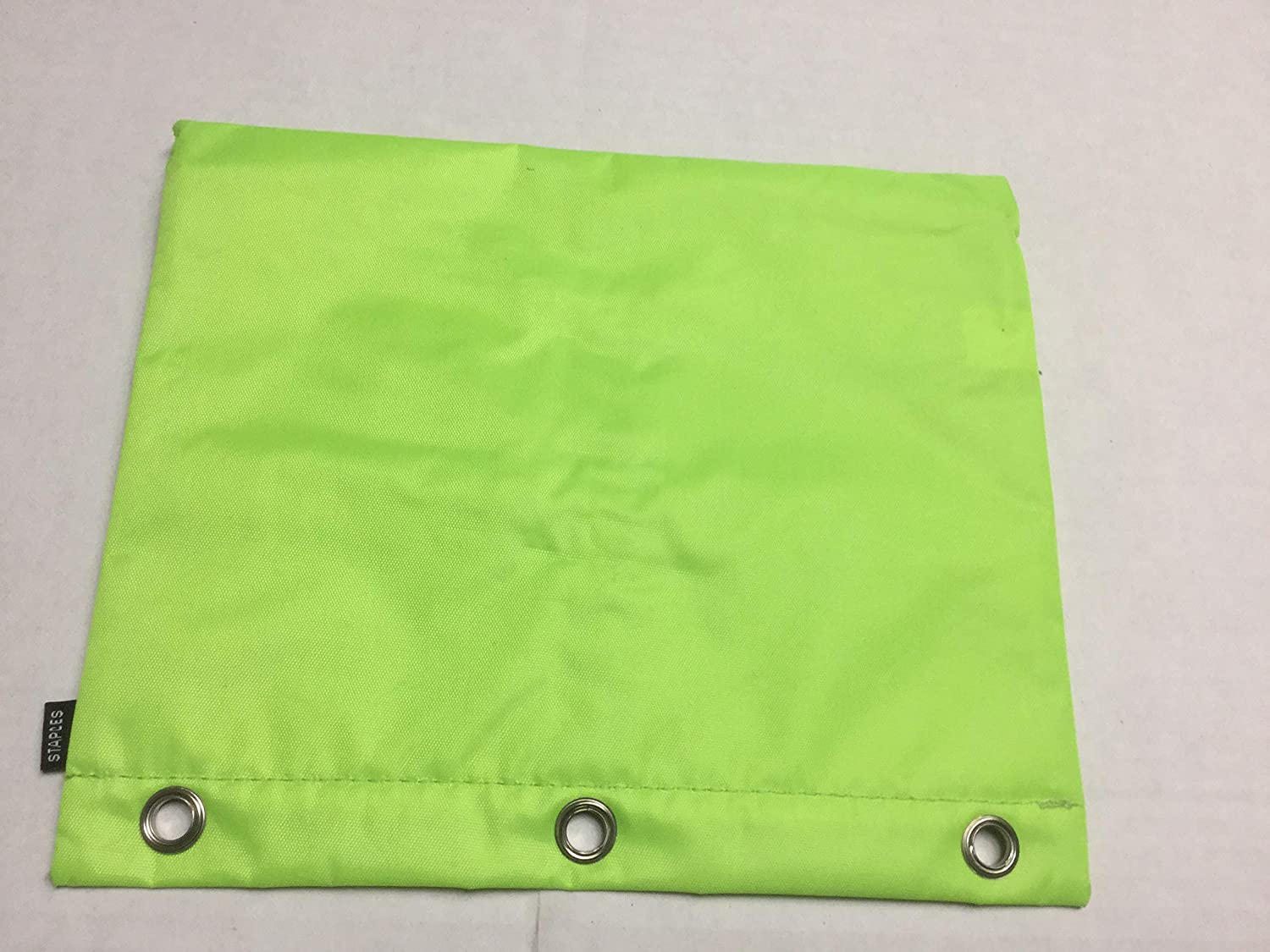 Staples 3-Ring Binder Pencil Pouch Neon Lime-Green