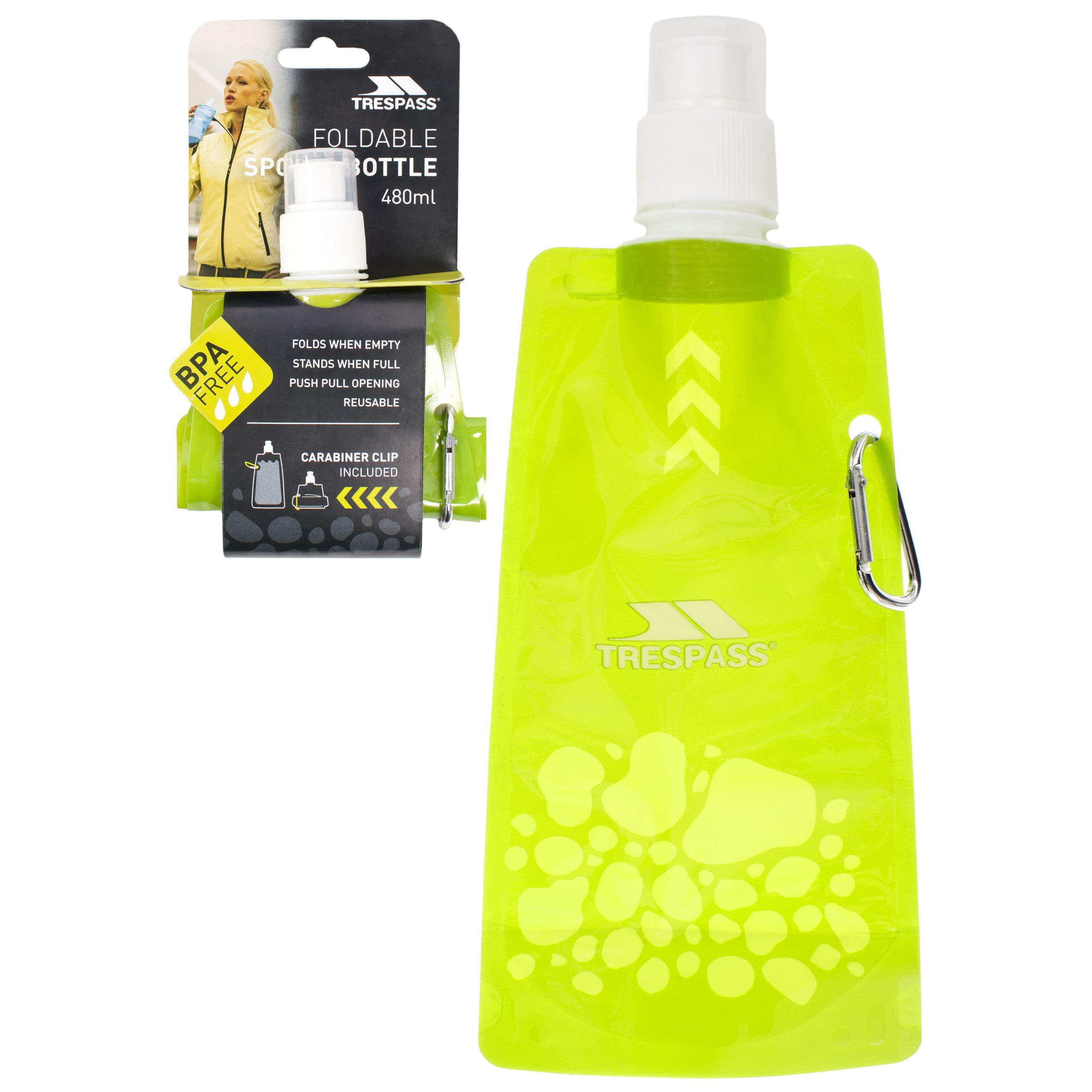Trespass Squeezi Collapsible Sports Gym Water Juice Bottle