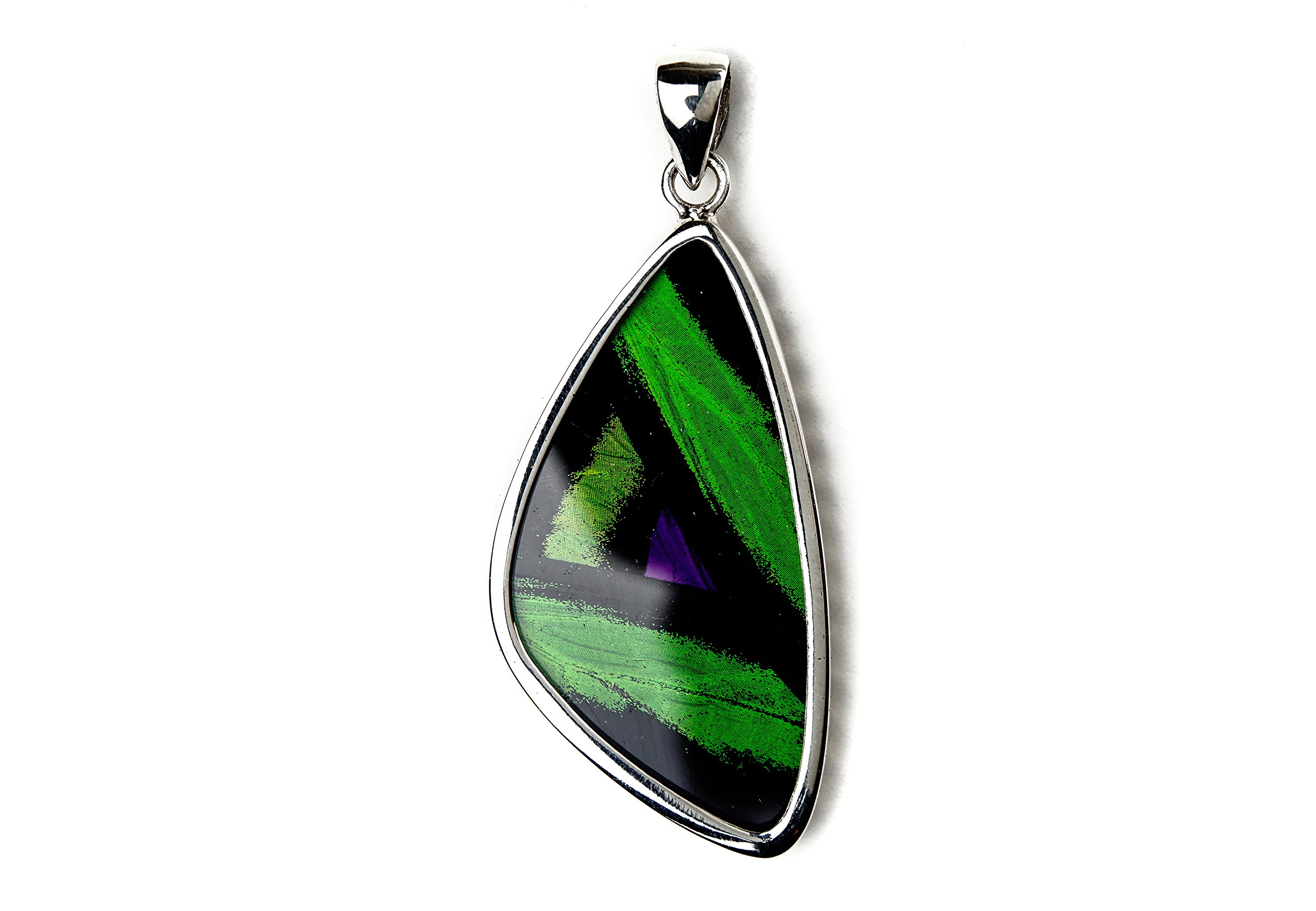 Real Butterfly Wing Pendant in Sterling Silver - Style #14